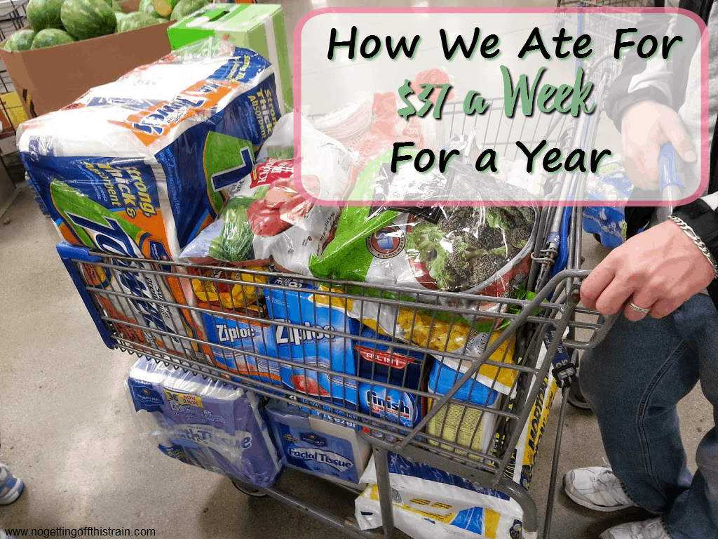 A report on how this family of 3 ate frugally, for $37 a week, for a full year. Includes menus, recipes, and grocery tips that helped them survive!