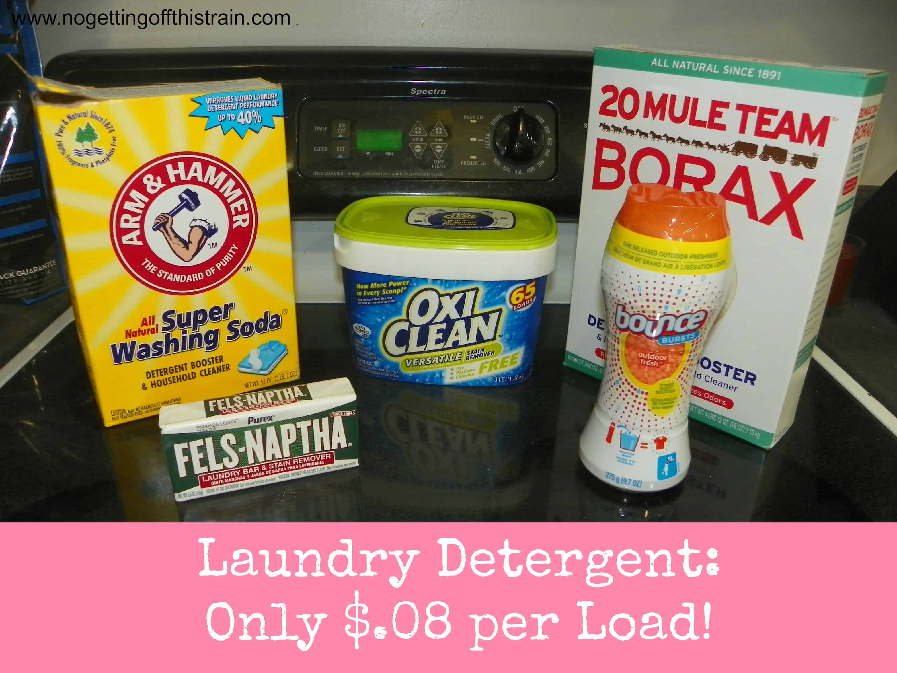 Make Your Own Laundry Detergent For Only 08 Per Load