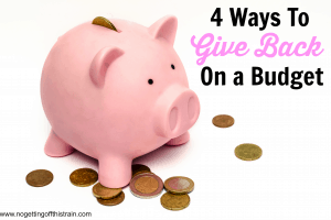give back on budget