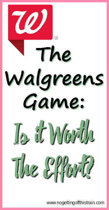 The Walgreens Game- Is It Worth The Effort? + Giveaway!