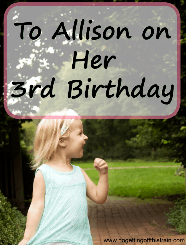 To Allison on Her 3rd Birthday