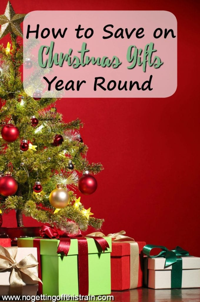 Christmas doesn't have to be expensive! Here's how you can save on Christmas gifts year round to have a less stressful holiday.