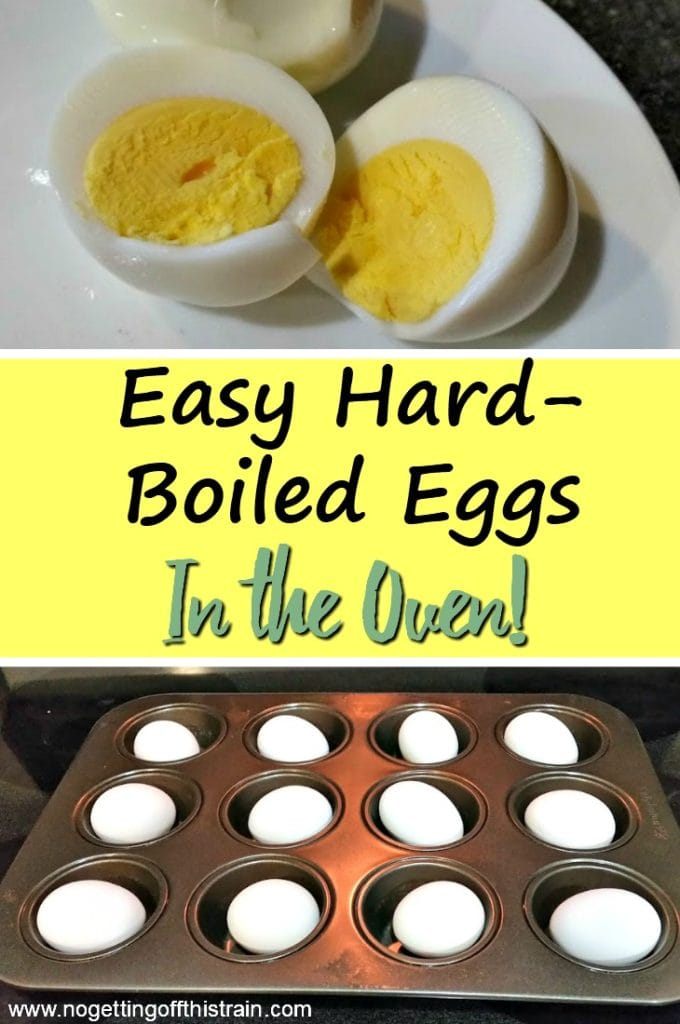 Having issues hard-boiling eggs? Try these easy hard boiled eggs in the oven! They're quick to make, easy to peel, and make a healthy portable snack!