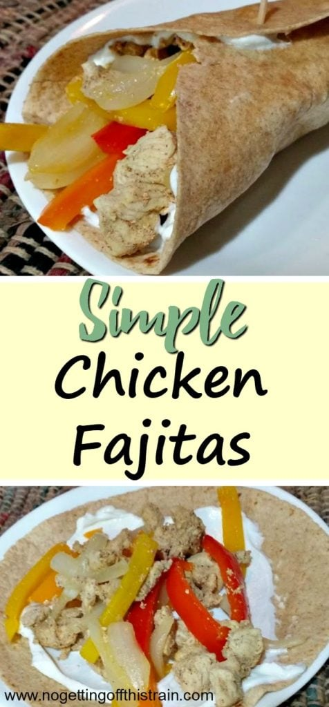 These Simple Chicken Fajitas are a quick weeknight dinner idea and great for your next Mexican dish! Healthy and delicious!