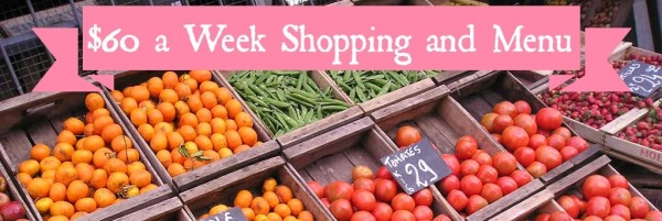 Weekly shopping and menu for 2/8