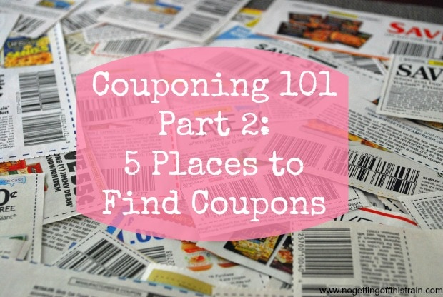 Don't know where to look to get amazing coupons? Here is a list of 5 places to get started! www.nogettingoffthistrain.com