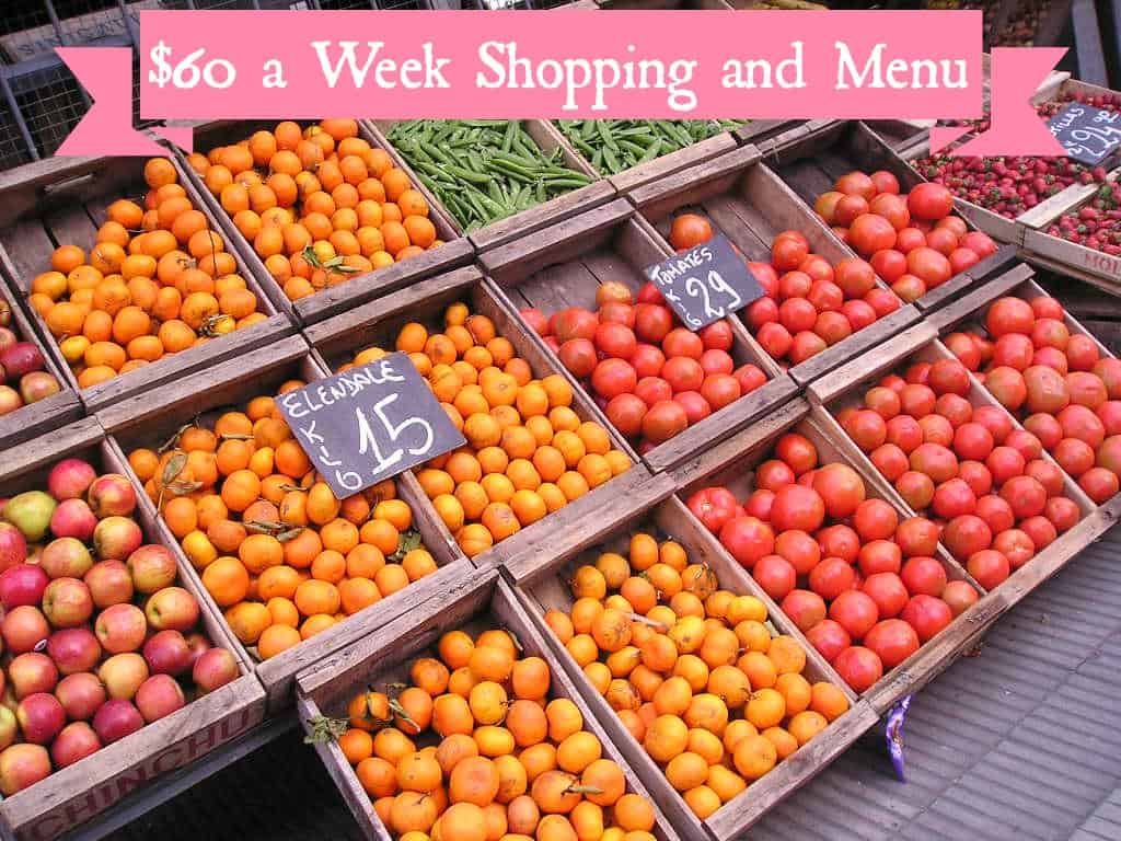 Weekly Shopping and Menu 7/12