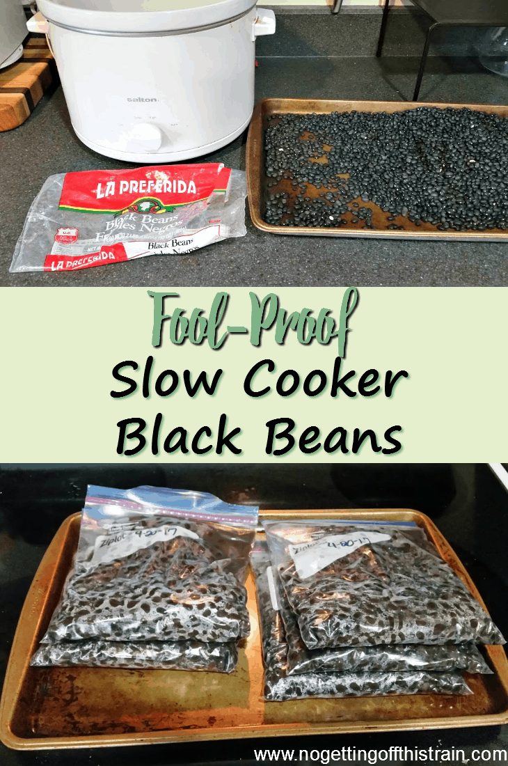 Don't be afraid of dried beans! Here is a frugal recipe for slow cooker black beans to help you save money and eat healthy! #frugal #recipe #slowcooker
