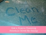 How a Simple Cleaning Schedule Saved My Sanity