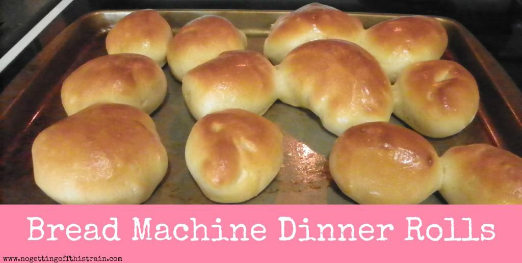 Bread Machine dinner rolls: www.nogettingoffthistrain.com