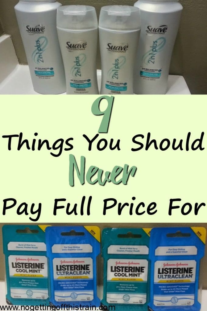 Groceries are getting expensive, but you can still save money on the necessities! Here are 9 things you should never pay full price for.