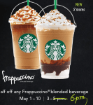 Frappuccino Happy Hour Starts TOMORROW, May 1st!