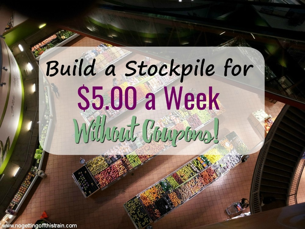 You don't need coupons to build a stockpile! With just $5.00 a week, you can stock your pantry and still be frugal. An easy way to make cheap dinners!