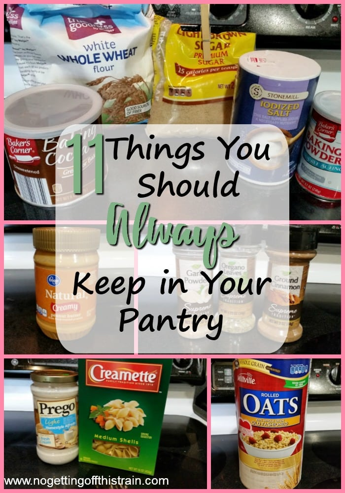 Are you missing any from this list of pantry essentials? Here are 11 things you should always keep in your pantry for quick and easy meals!