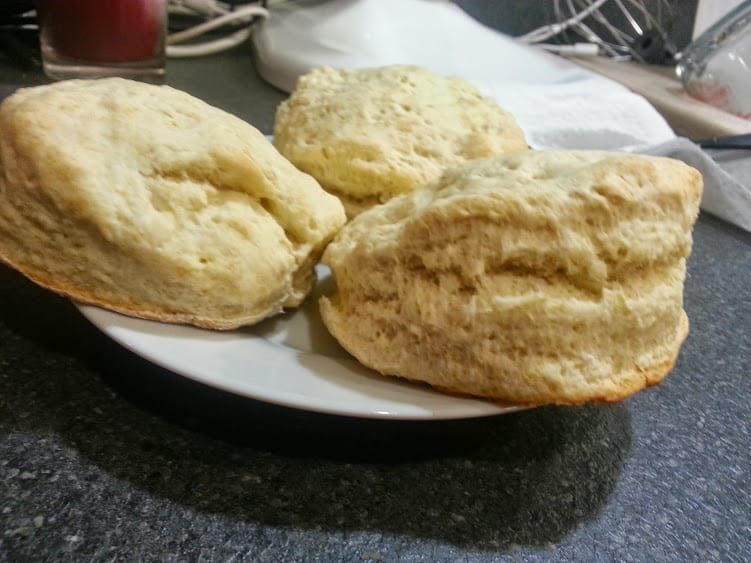Image of homemade biscuits on a plate