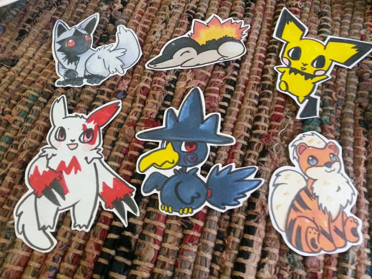 pokemon stickers 3