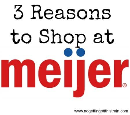 Need a reason to shop at Meijer? Here's 3! Come learn how to save money at Meijer! www.nogettingoffthistrain.com
