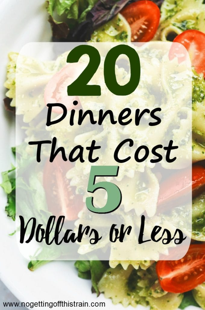 Looking for cheap meals to stretch your budget? Here are 20 different 5 dollar dinners that are simple, frugal, and family friendly!