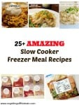 25 + Amazing Slow Cooker Freezer Meals