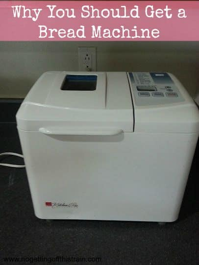 This household gadget is a must-have if you love freshly baked bread! Click here to see why you should get a bread machine. www.nogettingoffthistrain.com