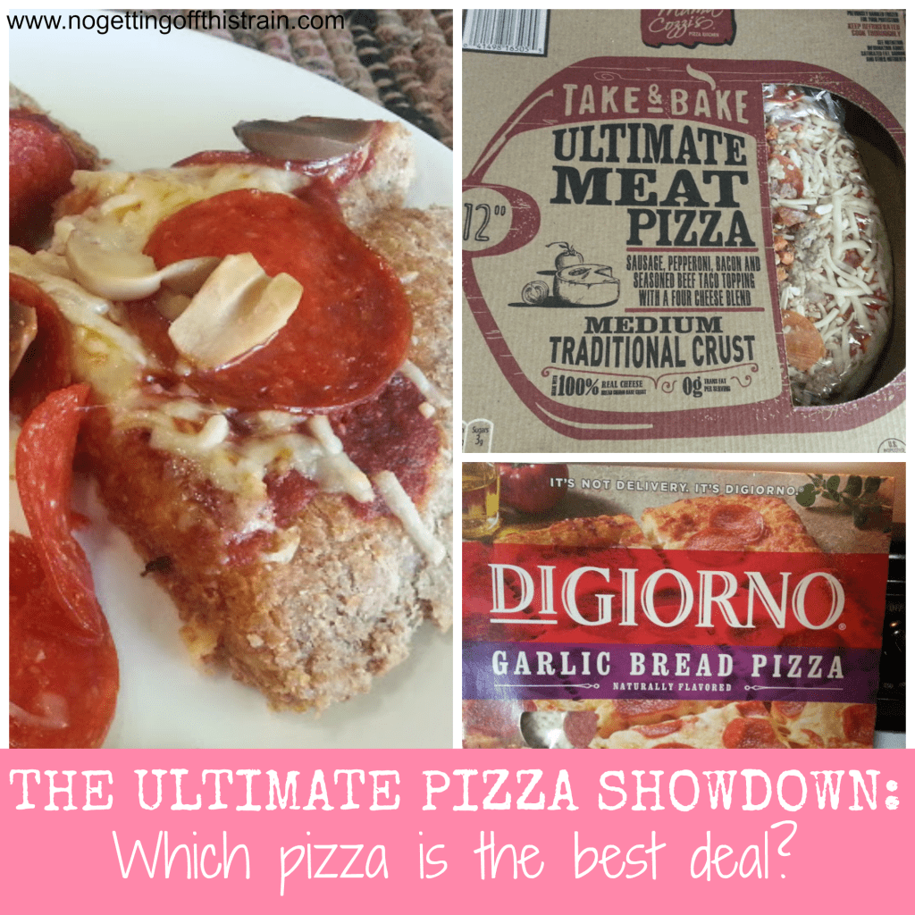 Have you ever wondered what kind of pizza is best in price and taste? Click to read comparisons between homemade, Aldi, and DiGiorno pizza! www.nogettingoffthistrain.com