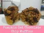 Pumpkin Oat Chocolate Chip Muffins