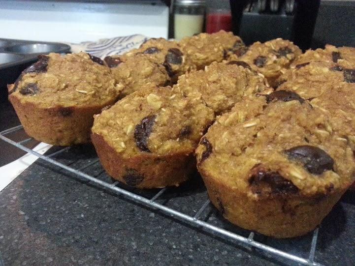 pumpkin oat muffins 7