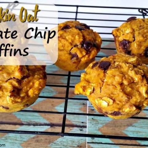 umpkin Oat Chocolate Chip Muffins
