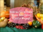 How To Give Back When You Have Little Money