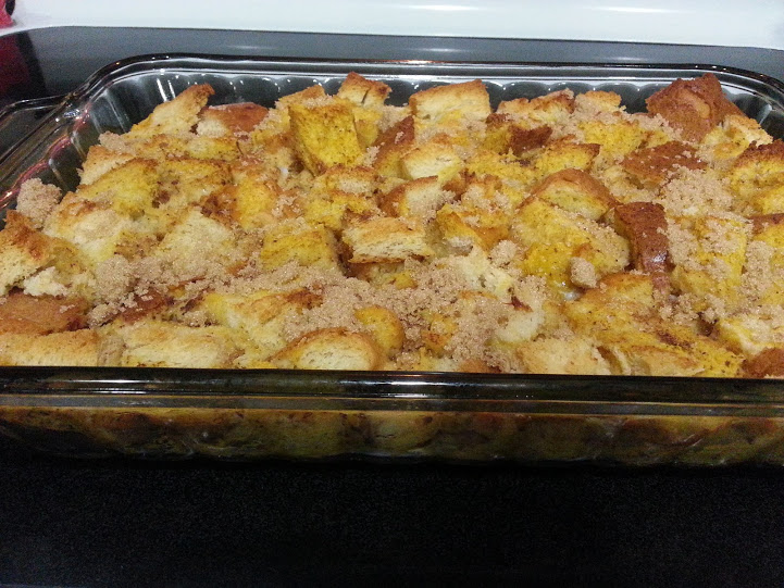 Homemade bread makes great french toast casserole!