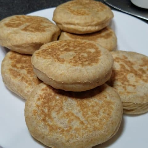 Bread Machine Whole Wheat English Muffins