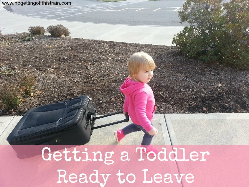Oh, the best part of my morning... convincing a toddler it's time to go! www.nogettingoffthistrain.com
