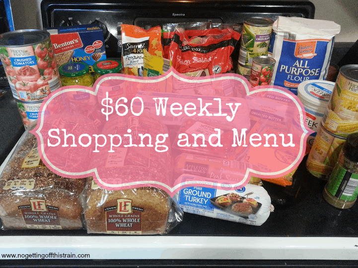 Want to see what a family of 3 eats for $60 a week? Check back every Monday for a new week of shopping and menus! Week of: 3/28/16. www.nogettingoffthistrain.com