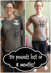 Weight Loss Goal Met! 20 Pounds Lost in 8 Months