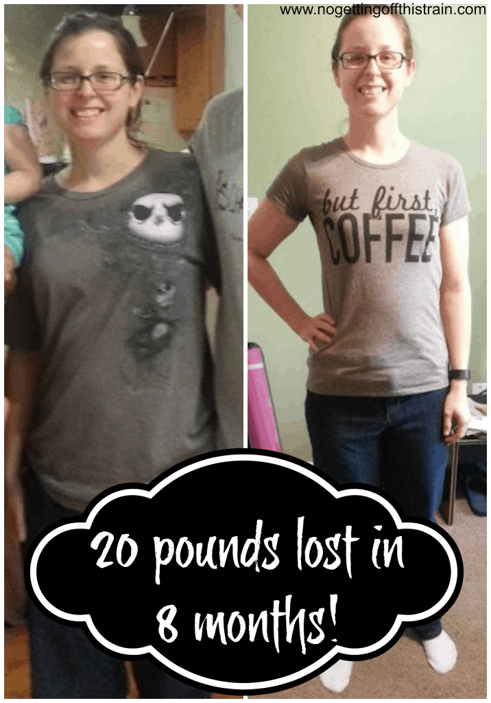 I did it! 20 pounds lost in 8 months! Here is everything I did, from eating to exercising. www.nogettingoffthistrain.com