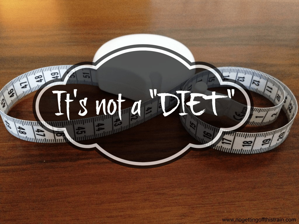 """It's not a diet, it's a lifestyle change!"" the saying goes. Are you just following a fad diet, or are you making permanent changes to your eating habits? www.nogettingoffthistrain.com"