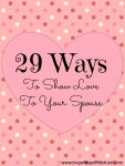 29 Ways to Show Love to Your Spouse