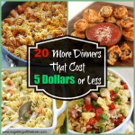 20 More Dinners That Cost 5 Dollars or Less