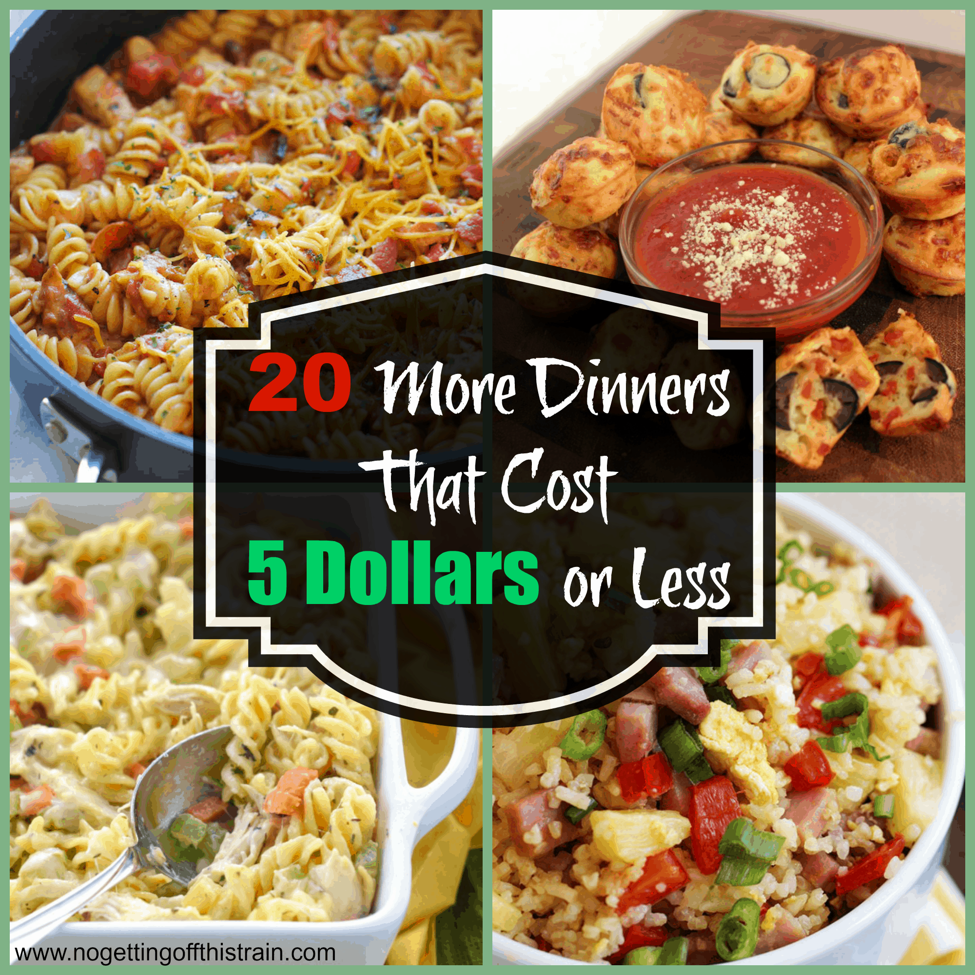 One way to stretch the family food dollar, however, is by eating at home instead of eating out. Learn to how to make frugal but fabulous family dishes for less than $20 with these easy budget recipes.