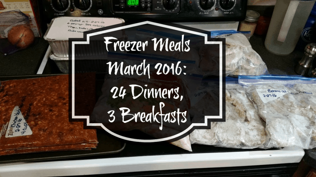 Freezer meal plan for March 2016: I made 24 dinners and 3 breakfasts for less than $100! www.nogettingoffthistrain.com
