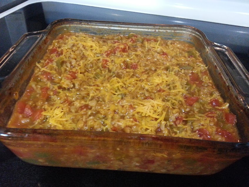 Make this Mexican Lentil and Brown Rice Casserole for your next Meatless Monday dinner! www.nogettingoffthistrain.com
