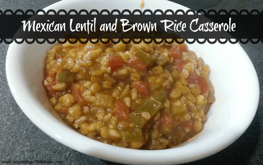 Mexican Lentil and Brown Rice Casserole