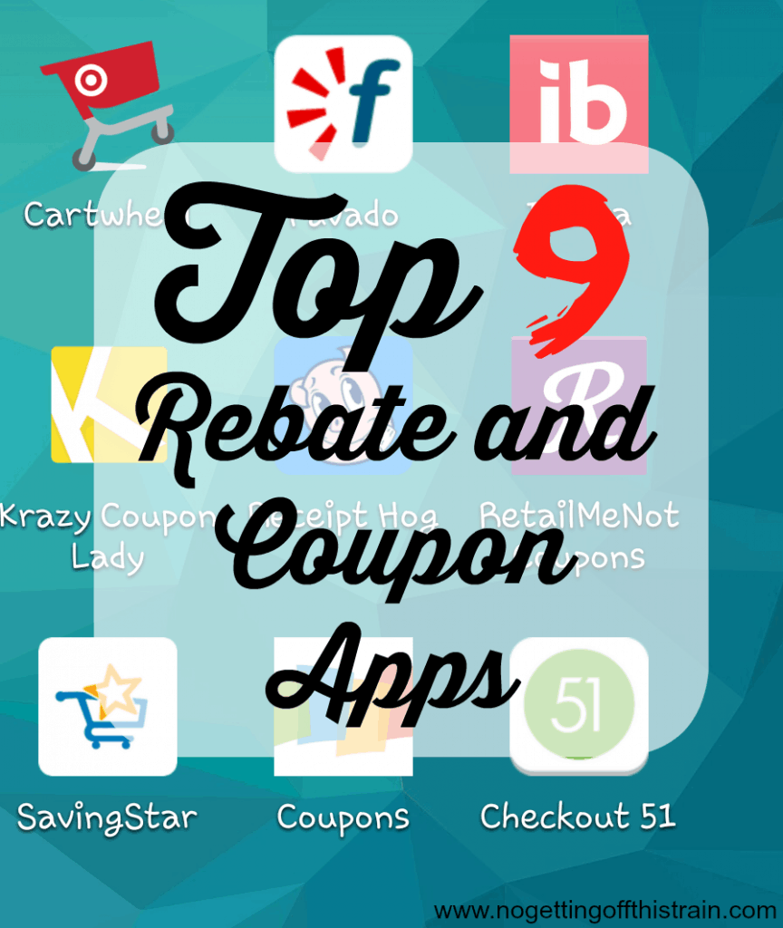 I love these rebate and coupon apps! They help me save so much money and earn extra cash. Click to see my top 9! www.nogettingoffthistrain.com