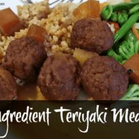 3-Ingredient Teryiaki Meatballs