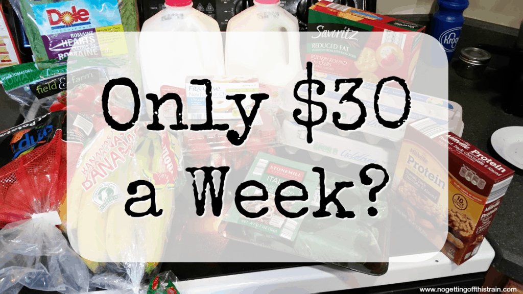 Am I really only spending $30 a week on groceries for my family of 3? A few questions have come up, and I want to clarify. www.nogettingoffthistrain.com