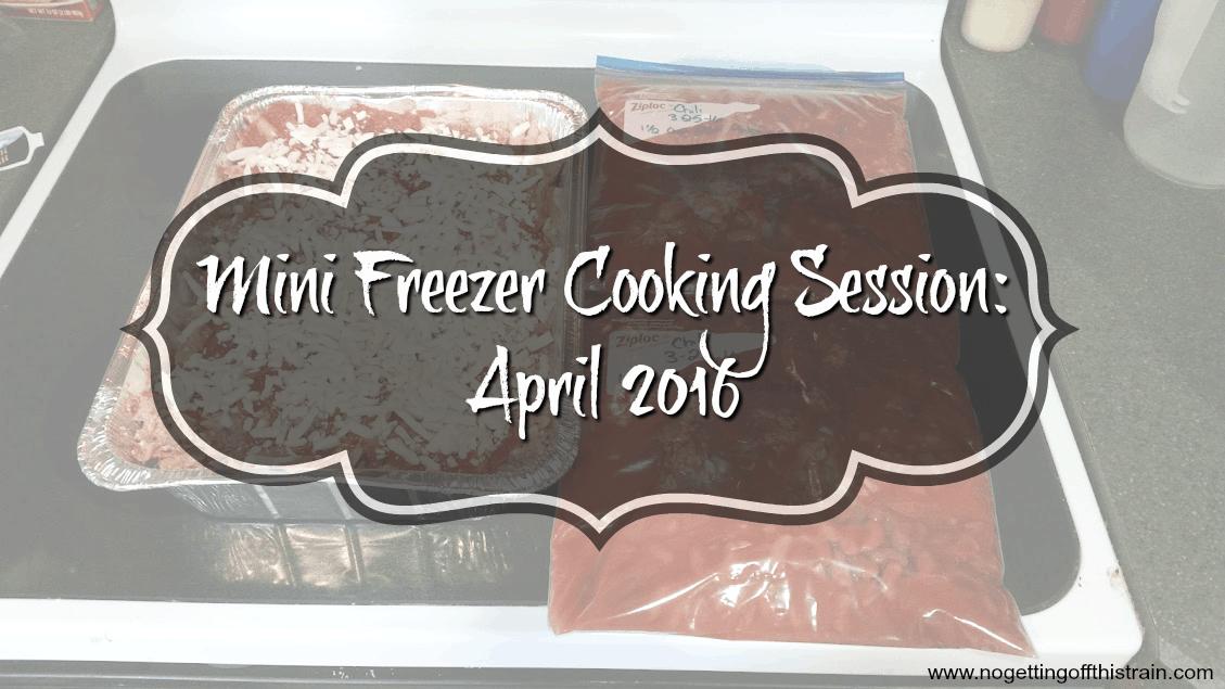 Mini Freezer Cooking Session- April 2016