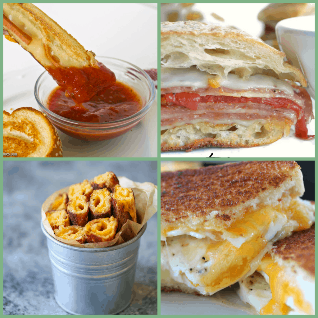 In celebration of Grilled Cheese Month, here is a collection of 16 of the best grilled cheese sandwich recipes! www.nogettingoffthistrain.com