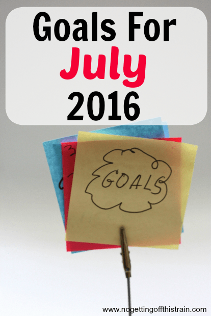 Goals for July 2016