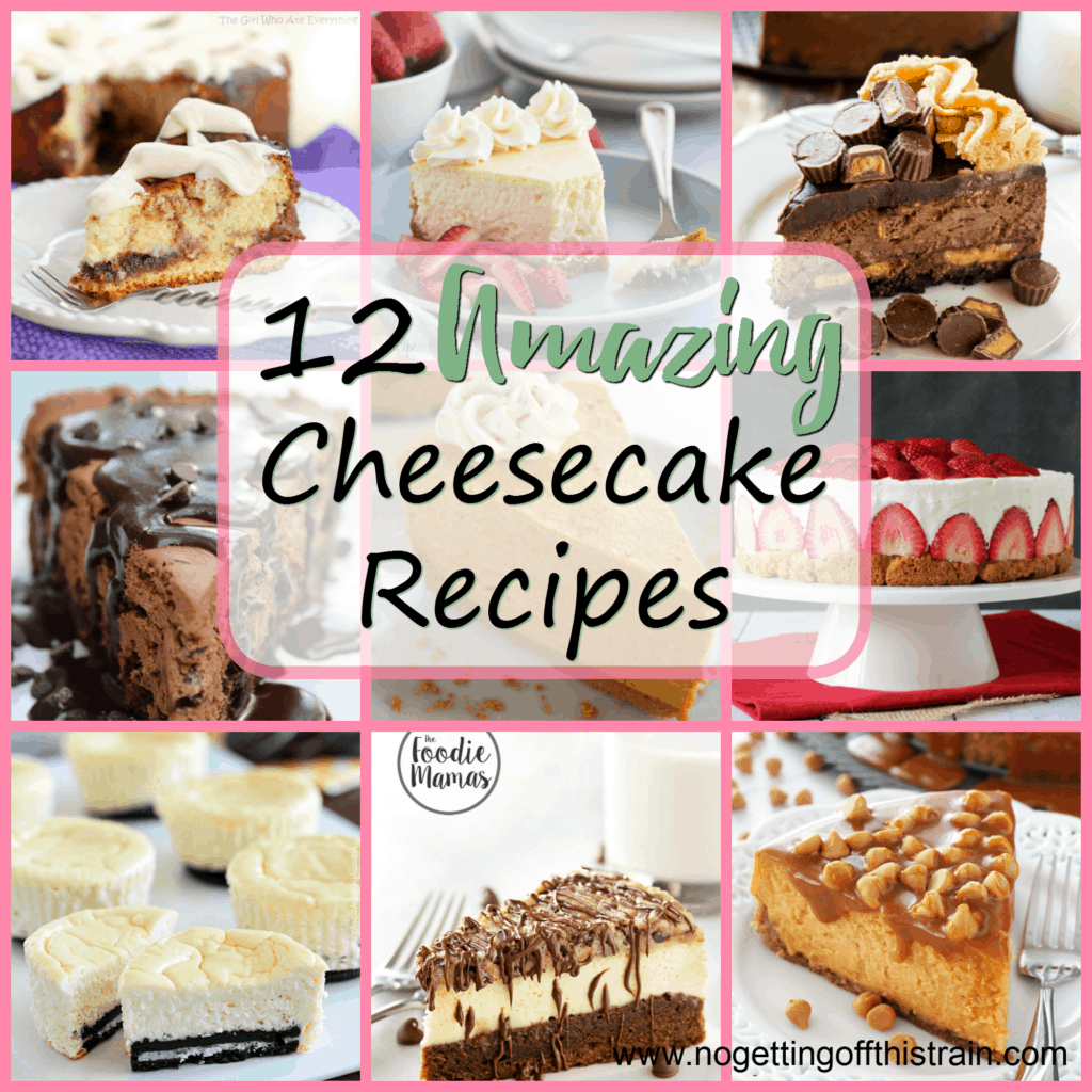 With National Cheesecake Day coming up, here are the 12 best amazing cheesecake recipes to enjoy! www.nogettingoffthistrain.com