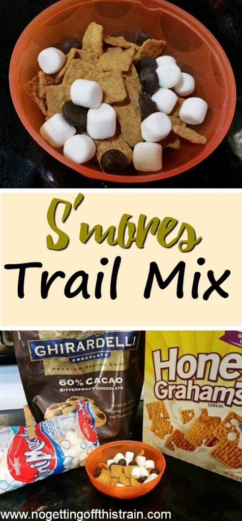 Looking for an easy Summer snack? This Smores trail mix is simple to make, frugal, and kid friendly! No campfire needed!